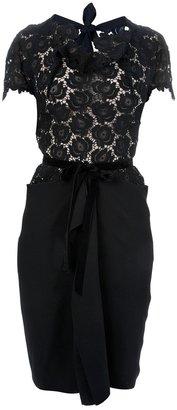 Roland Mouret floral lace dress