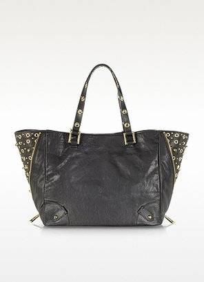 Juicy Couture Black Large Studded Leather Tote