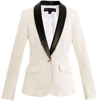 Elizabeth and James Rex leather-lapel tuxedo jacket