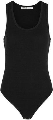 AGOLDE Black Ribbed Modal-blend Bodysuit