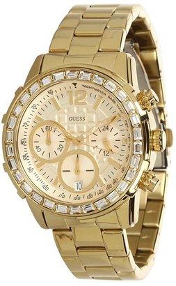 GUESS U0016L2 Dazzling Sport Chronograph Watch (Gold) - Jewelry
