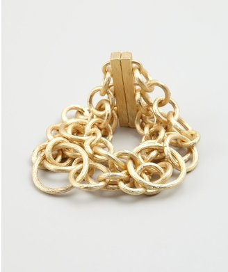 Jardin Gold Textured Multi Chain Link Bracelet