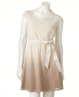 Lauren Conrad lace dip-dyed dress