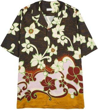 Dries Van Noten Carltone Floral-print Matte Satin Shirt