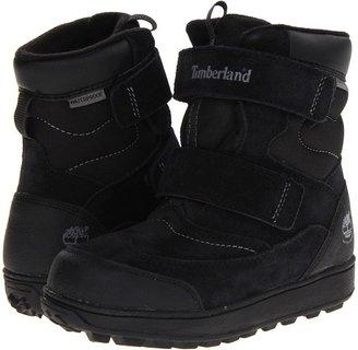 Timberland Kids - Polar Cave Boys Waterproof Snow Boot (Little Kid) (Black Suede) - Footwear
