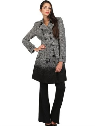 Burberry Degradé Wool Herringbone Coat