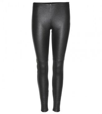 Victoria Beckham Denim Stretch-leather trousers