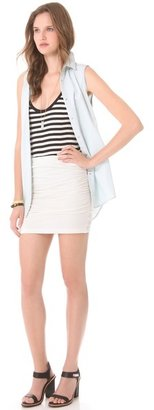 James Perse Ruched Mini Skirt
