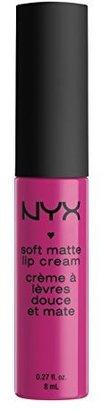 NYX Soft Matte Lip Cream, Addis Ababa $6 thestylecure.com