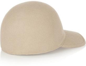 Stella McCartney Wool-felt baseball cap