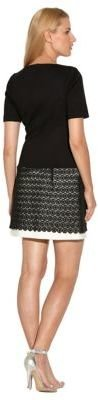Laundry by Shelli Segal Ponte Knit and Lace Drop Waist Dress