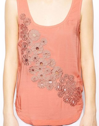 Warehouse Daisy Embroidered Tank