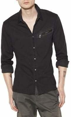 John Varvatos Slim Fit Snap Front Sport Shirt