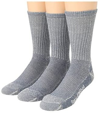 Smartwool Hike Light Crew 3-Pack (Gray) Men's Quarter Length Socks Shoes