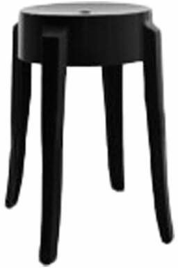 "Kartell Charles 18"" Patio Bar Stool (Set of 2 Color: Opaque Glossy Black"