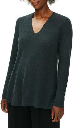 Eileen Fisher Fine Merino Wool V-Neck Tunic