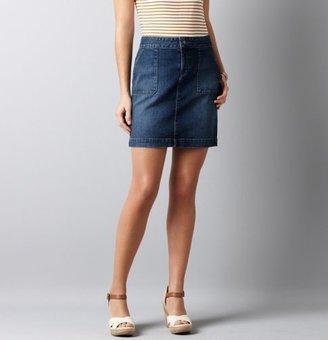 LOFT Trouser Pocket Denim Skirt in Marina Wash