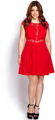 Forever 21 FOREVER 21+ Party Time Pleated Dress