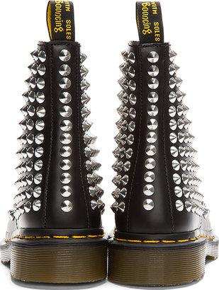 Dr. Martens Black Leather Studded 8-Eye Boots