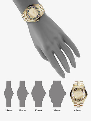 Marc by Marc Jacobs Henry Skeleton Stainless Steel Bracelet Watch/Gold