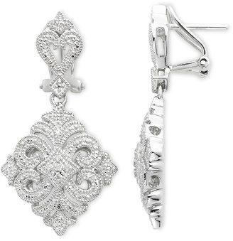 JCPenney FINE JEWELRY Vintage Inspirations Sterling Silver 1/10 CT. T.W. Diamond Drop Earrings