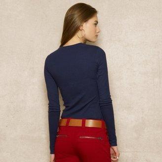 Ralph Lauren Blue Label Ribbed Cotton-Blend Crewneck