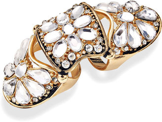 Bar III Ring, Gold-Tone Crystal Knuckle Ring