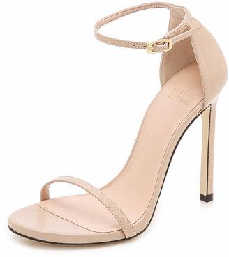 Stuart Weitzman Nudist 110mm Sandals $398 thestylecure.com