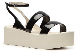 Calvin Klein Collection Kate Patent Leather Platform Sandal