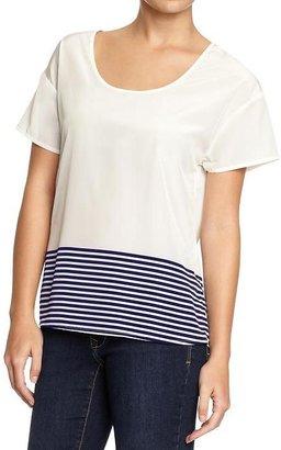 Old Navy Women's Striped-Hem Tops