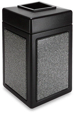 Bed Bath & Beyond StoneTec™ 38-Gallon Waste Container - Black with Pepperstone
