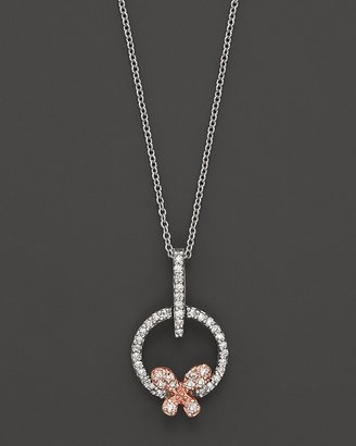 Bloomingdale's Diamond Butterfly Pendant Set In 14K Rose & White Gold, 0.20 ct.