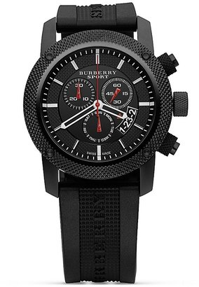 Burberry Chronograph Watch with Black Strap, 44 mm