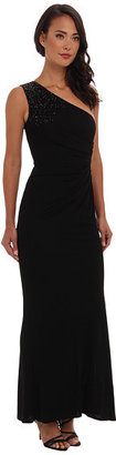 Laundry by Shelli Segal One Shoulder Twist Back Gown