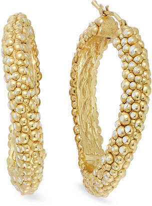 Roberto Coin The Fifth Season by 18k Gold over Sterling Silver Earrings, Large Stingray Hoops