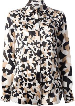 Givenchy stylised camouflage print shirt