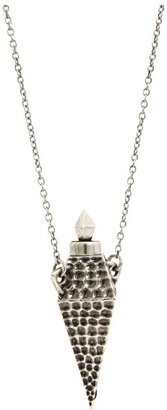 House Of Harlow Hammered Diamond Vessel Necklace (Silver Plated) - Jewelry