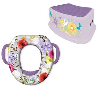Ginsey Disney fairies saddle potty and step stool set