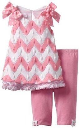 Bonnie Baby Girls Infant Flamestitch Legging Set