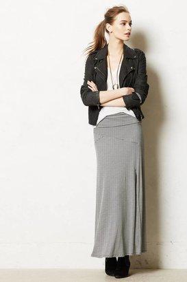 Anthropologie Split Stripes Maxi Skirt
