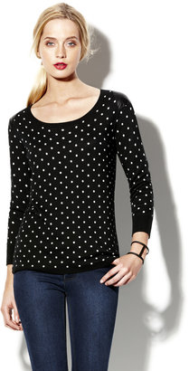 Vince Polka Dot Crewneck Sweater