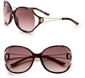 Roberto Cavalli Clerodendro Round Oversized Sunglasses