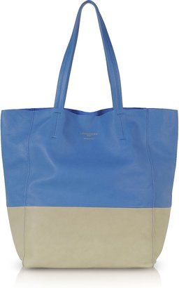 Le Parmentier Large Color Block Nappa Leather Tote
