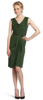 BCBGMAXAZRIA Women's Lorraine Sleeveless Draped Dress