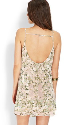 Forever 21 Floral Layered Cami Dress
