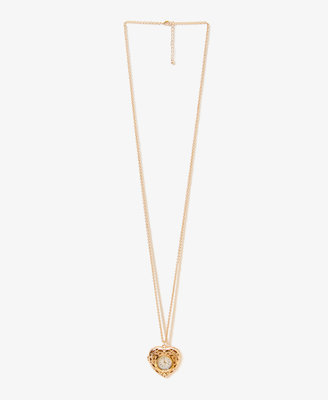 Forever 21 Heart Watch Locket Necklace