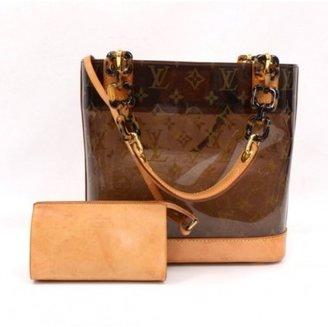 Louis Vuitton excellent (EX Brown Monogram Vinyl x Leather Sac Ambre MM 2001 Limited Hand Bag