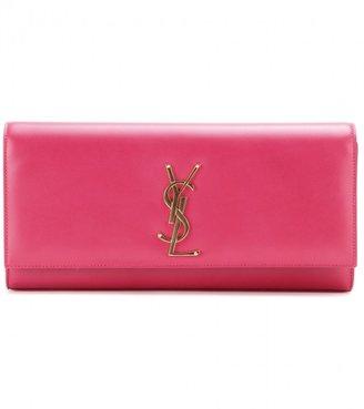 Saint Laurent Classic Monogram leather clutch