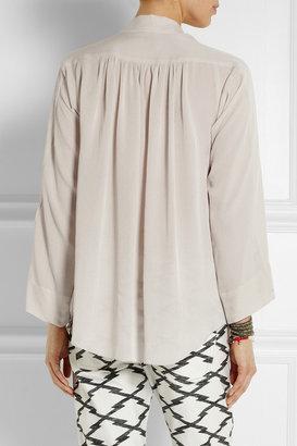 Isabel Marant Zora silk-georgette top