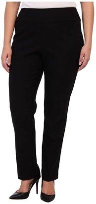 Nic+Zoe Plus Size Wonder Stretch Pant (Black Onyx) Women's Casual Pants